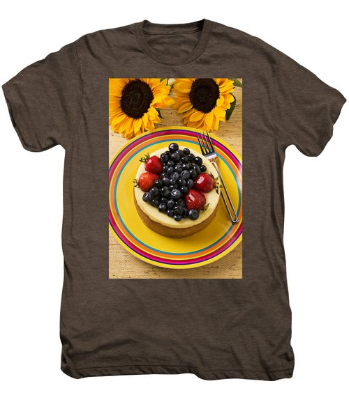 Cheesecake With Fruit Men's Premium T-Shirt by Garry Gay
