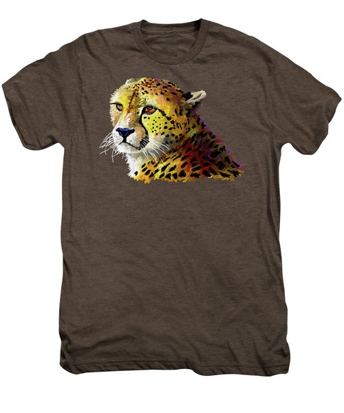 Cheetah Men's Premium T-Shirt by Anthony Mwangi