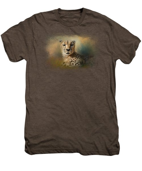 Cheetah Enjoying A Summer Day Men's Premium T-Shirt by Jai Johnson