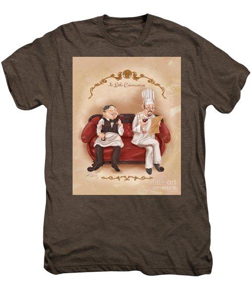 Chefs On A Break-a Little Conversation Men's Premium T-Shirt