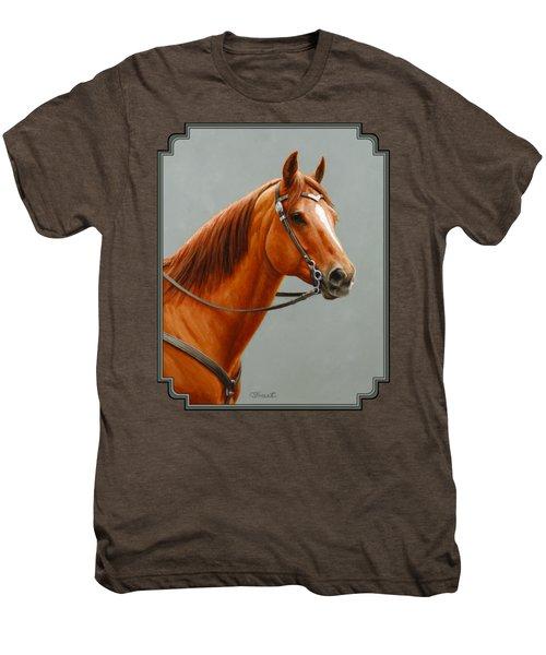 Chestnut Dun Horse Painting Men's Premium T-Shirt
