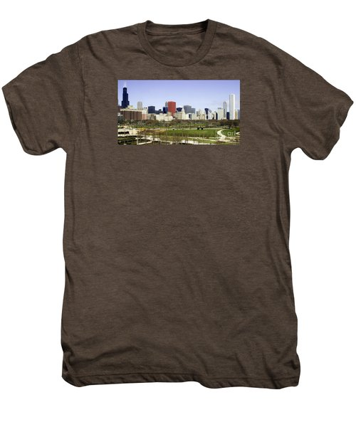 Men's Premium T-Shirt featuring the photograph Chicago- The Windy City by Ricky L Jones