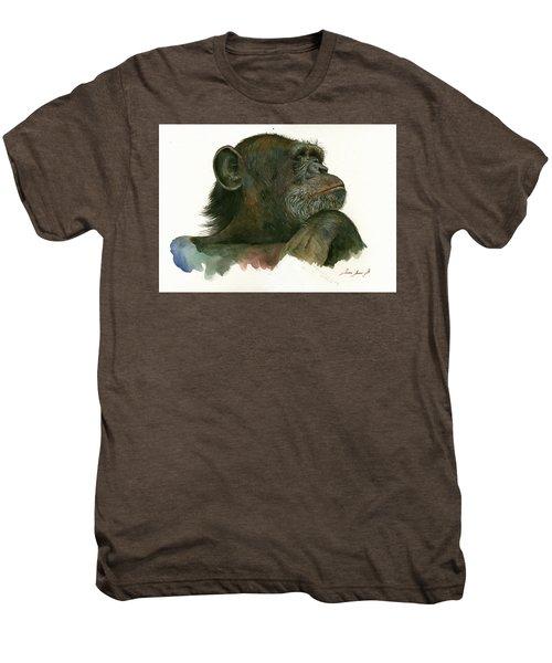 Chimp Portrait Men's Premium T-Shirt by Juan Bosco
