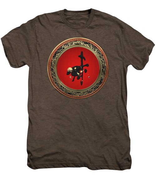 Chinese Zodiac - Year Of The Goat On Red Velvet Men's Premium T-Shirt