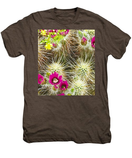 Cholla Cactus Blooms Men's Premium T-Shirt