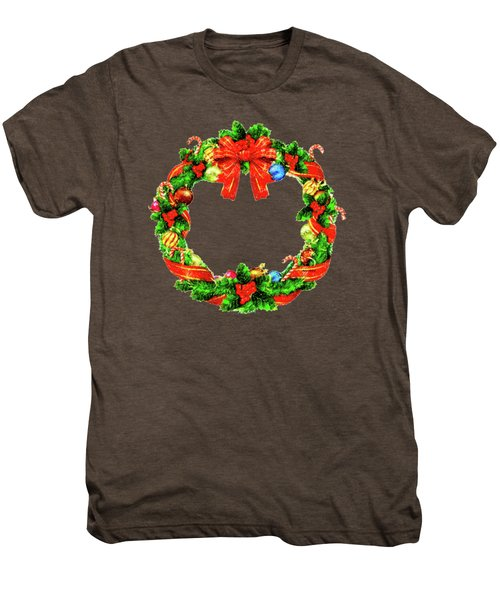 Christmas Wreath Men's Premium T-Shirt