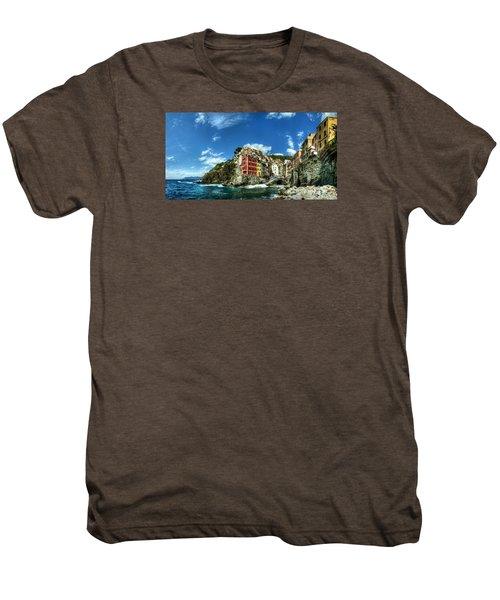 Cinque Terre - View Of Riomaggiore Men's Premium T-Shirt
