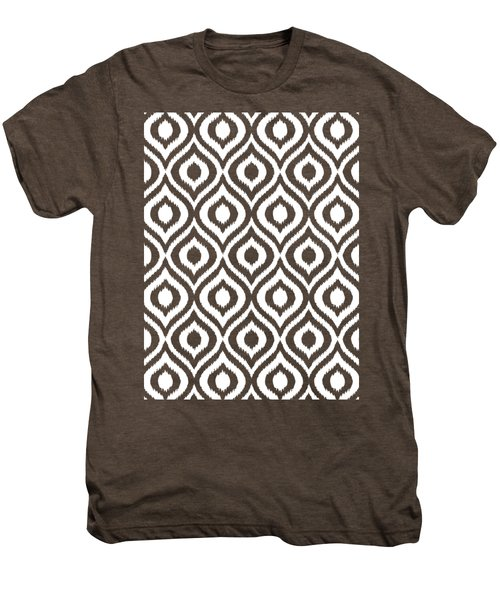 Circle And Oval Ikat In White T05-p0100 Men's Premium T-Shirt