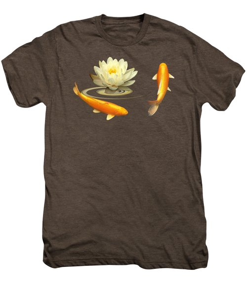 Circle Of Life - Koi Carp With Water Lily Men's Premium T-Shirt