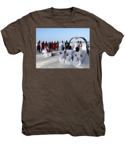 Close Up Kenya Baach Wedding Men's Premium T-Shirt