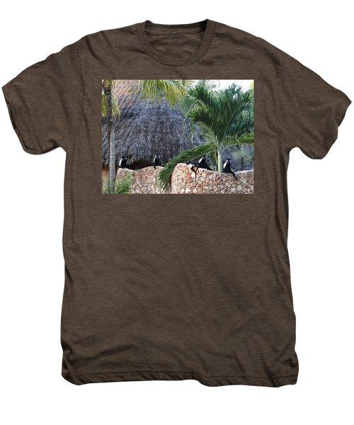 Colobus Monkey Resting On A Wall Men's Premium T-Shirt