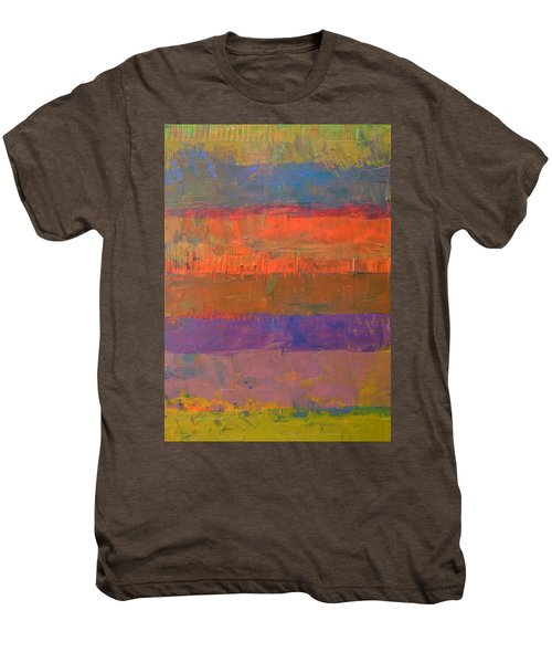 Men's Premium T-Shirt featuring the painting Color Collage Two by Michelle Calkins