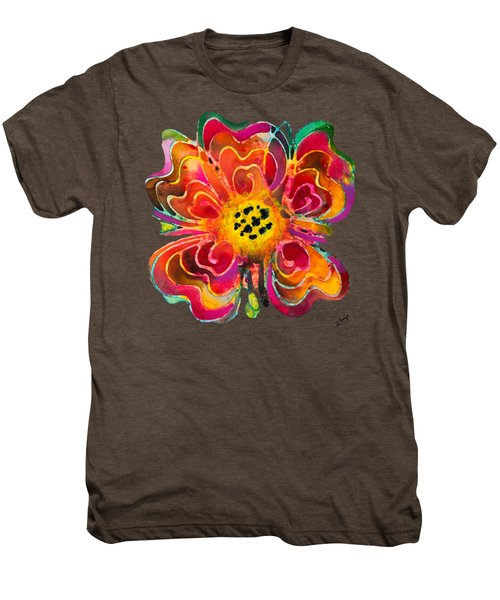 Colorful Flower Art - Summer Love By Sharon Cummings Men's Premium T-Shirt