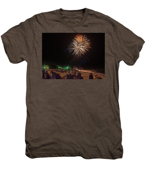 Men's Premium T-Shirt featuring the photograph Colorful Kewaunee, Fourth by Bill Pevlor