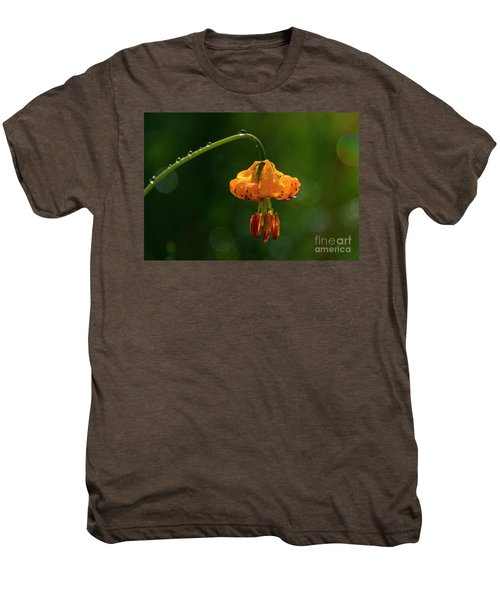 Columbia Lily With Dew Men's Premium T-Shirt