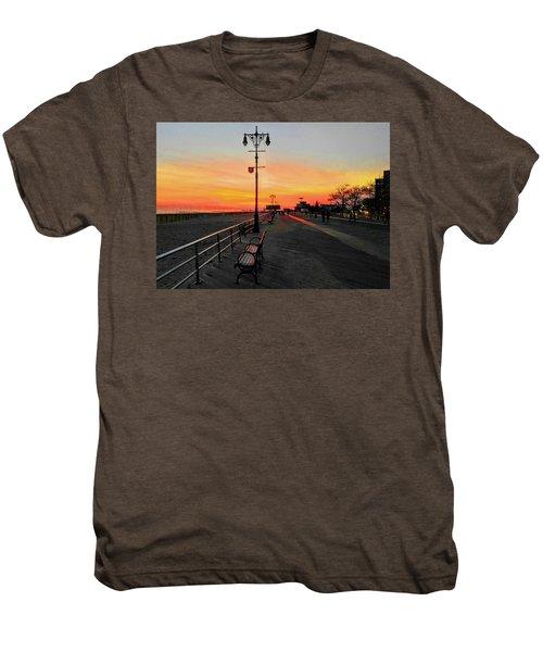 Coney Island Boardwalk Sunset Men's Premium T-Shirt