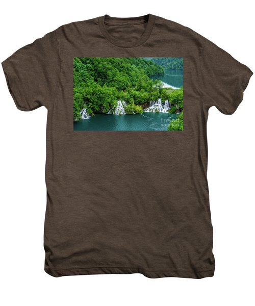 Connected By Waterfalls - Plitvice Lakes National Park, Croatia Men's Premium T-Shirt
