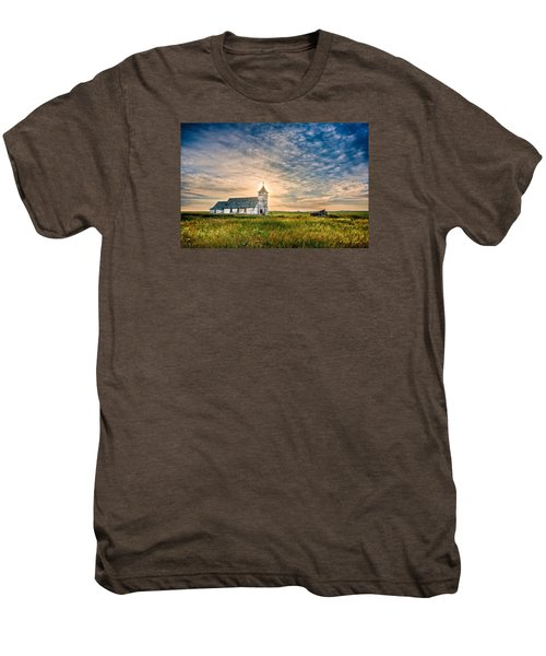 Country Church Sunrise Men's Premium T-Shirt