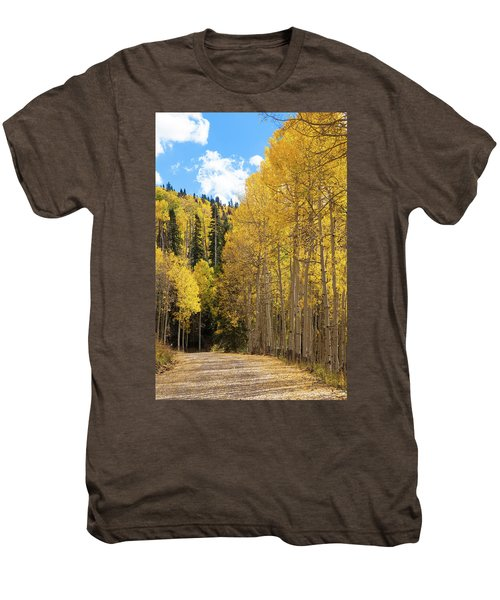 Men's Premium T-Shirt featuring the photograph Country Roads by David Chandler