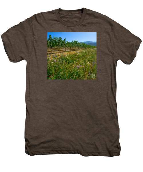 Country Wildflowers V Men's Premium T-Shirt