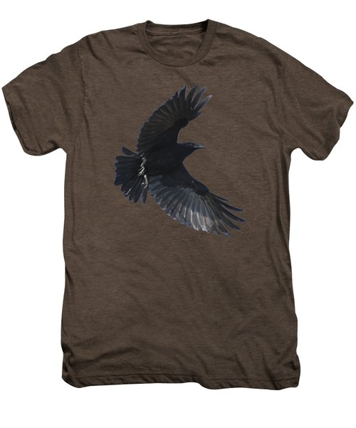 Crow In Flight Men's Premium T-Shirt
