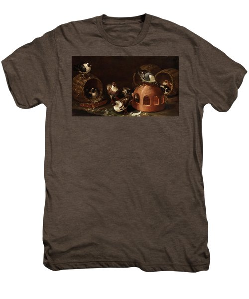 Deaf Between Feed Trough And Baskets Men's Premium T-Shirt