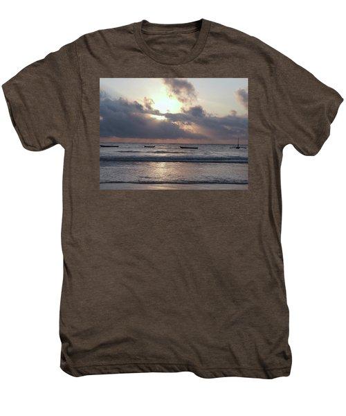 Dhow Wooden Boats At Sunrise 1 Men's Premium T-Shirt