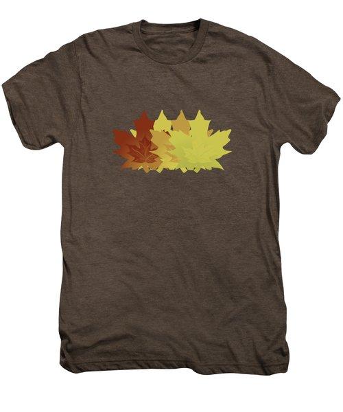 Diagonal Leaf Pattern Men's Premium T-Shirt
