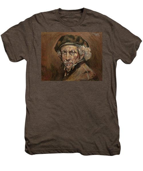 Disguised As Rembrandt Van Rijn Men's Premium T-Shirt by Nop Briex