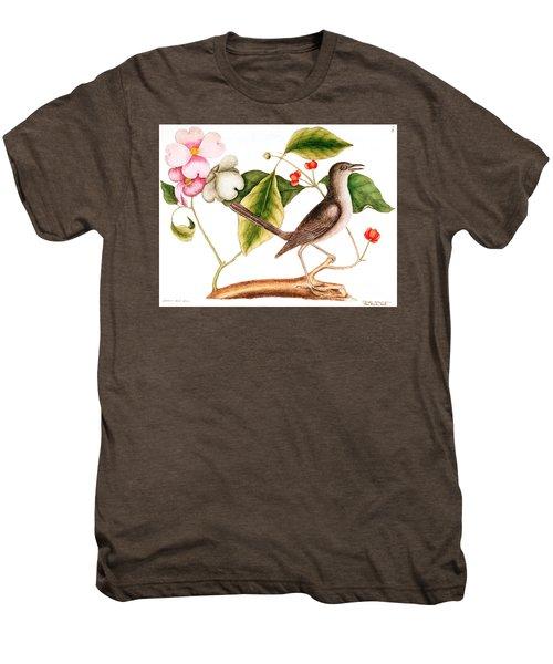 Dogwood  Cornus Florida, And Mocking Bird  Men's Premium T-Shirt