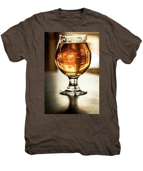 Downtown Waukesha Through A Glass Of Beer At Bernie's Taproom Men's Premium T-Shirt