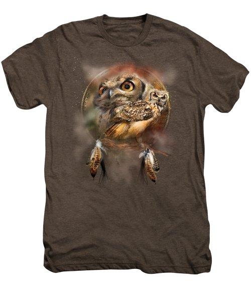 Dream Catcher - Spirit Of The Owl Men's Premium T-Shirt