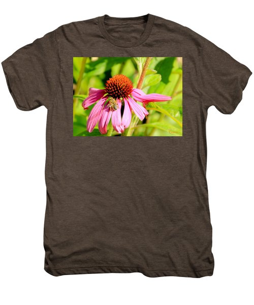 Echinacea Bee Men's Premium T-Shirt