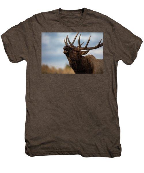 Elk's Screem Men's Premium T-Shirt by Edgars Erglis
