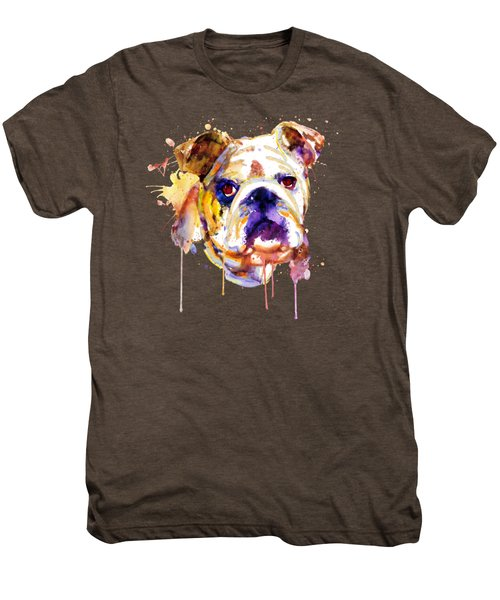 English Bulldog Head Men's Premium T-Shirt