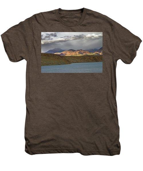 Men's Premium T-Shirt featuring the photograph Evening Light 1, Chiu, 2011 by Hitendra SINKAR