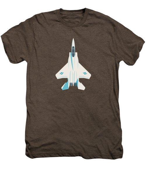 F15 Eagle Fighter Jet Aircraft - Crimson Men's Premium T-Shirt