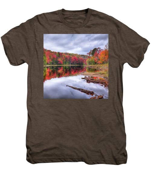 Men's Premium T-Shirt featuring the photograph Fall Color At The Pond by David Patterson