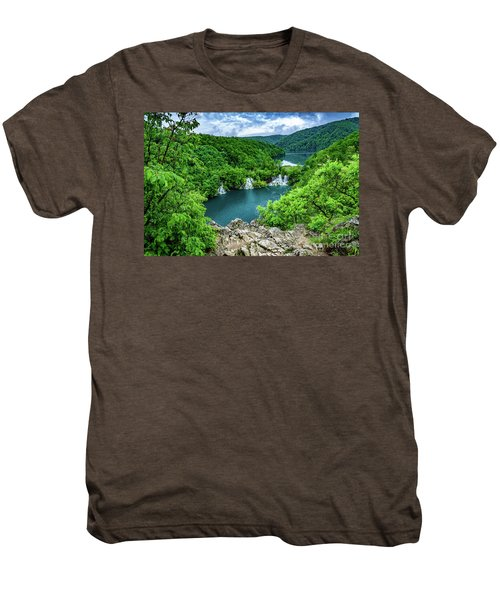 Falls From Above - Plitvice Lakes National Park, Croatia Men's Premium T-Shirt