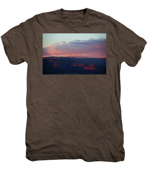 Flagstaff's San Francisco Peaks Snowy Sunset Men's Premium T-Shirt