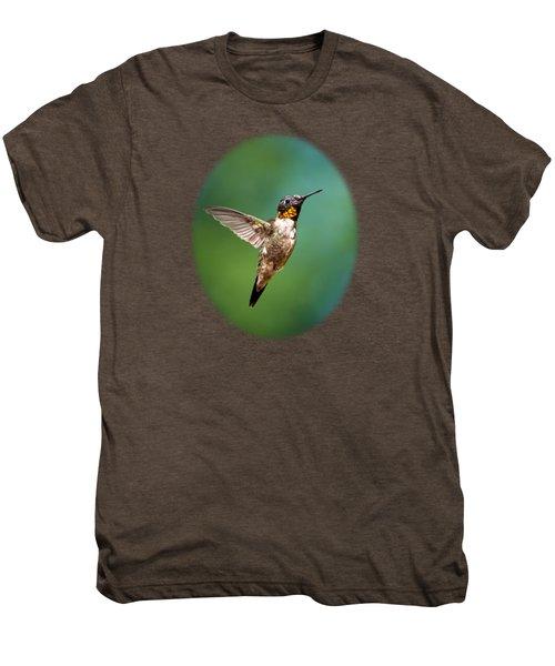 Flying Hummingbird Men's Premium T-Shirt by Christina Rollo