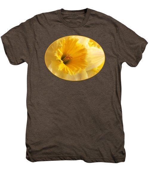 Focus On Spring - Daffodil Close Up Men's Premium T-Shirt