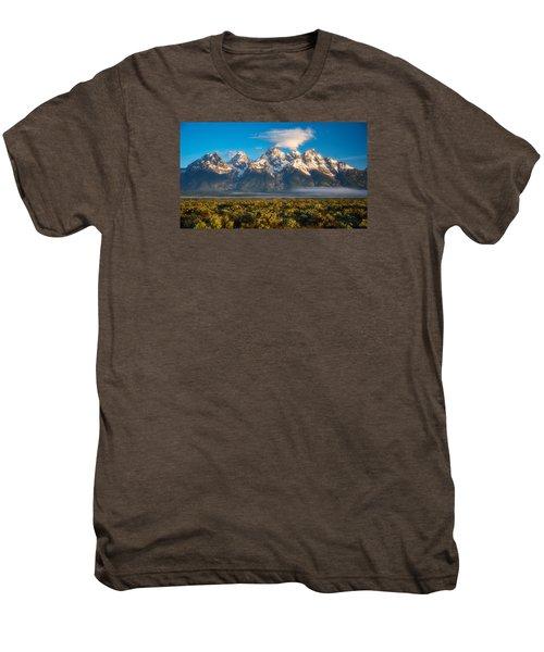 Fog At The Tetons Men's Premium T-Shirt