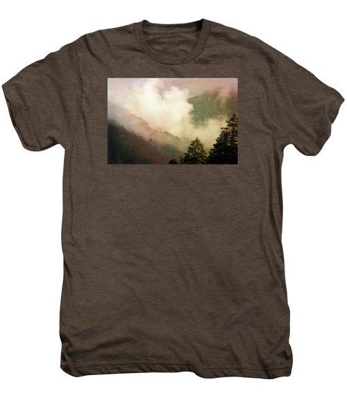 Fog Competes With Sun Men's Premium T-Shirt