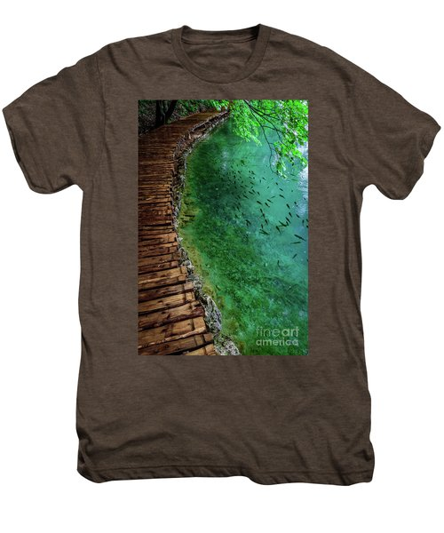 Footpaths And Fish - Plitvice Lakes National Park, Croatia Men's Premium T-Shirt