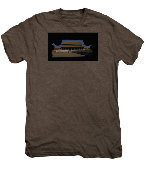 Forbidden City, Beijing Men's Premium T-Shirt by Travel Pics