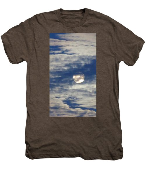 Full Moon In Gemini With Clouds Men's Premium T-Shirt