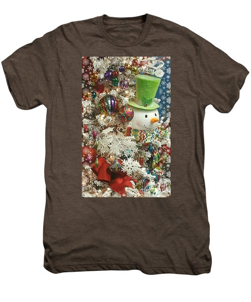 Fun Snowman Holiday Greeting Men's Premium T-Shirt
