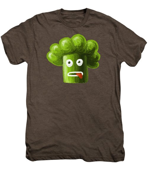 Funny Broccoli Men's Premium T-Shirt by Boriana Giormova