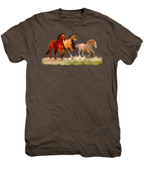 Galloping Horses Men's Premium T-Shirt
